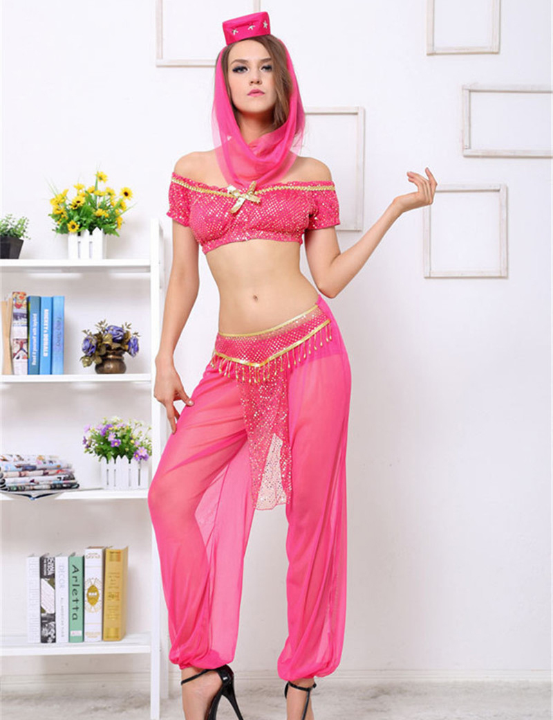 Moonight sexy arabic dance costume sexy goddess genie princess costume fancy dress arabian belly dancer dress
