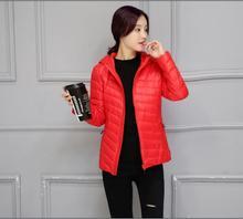 Горячая! 2016 новых женских зимнее пальто теплое пальто Тонкие модели женщины пуховик девушку Пальто Куртки женщины Вниз Парки