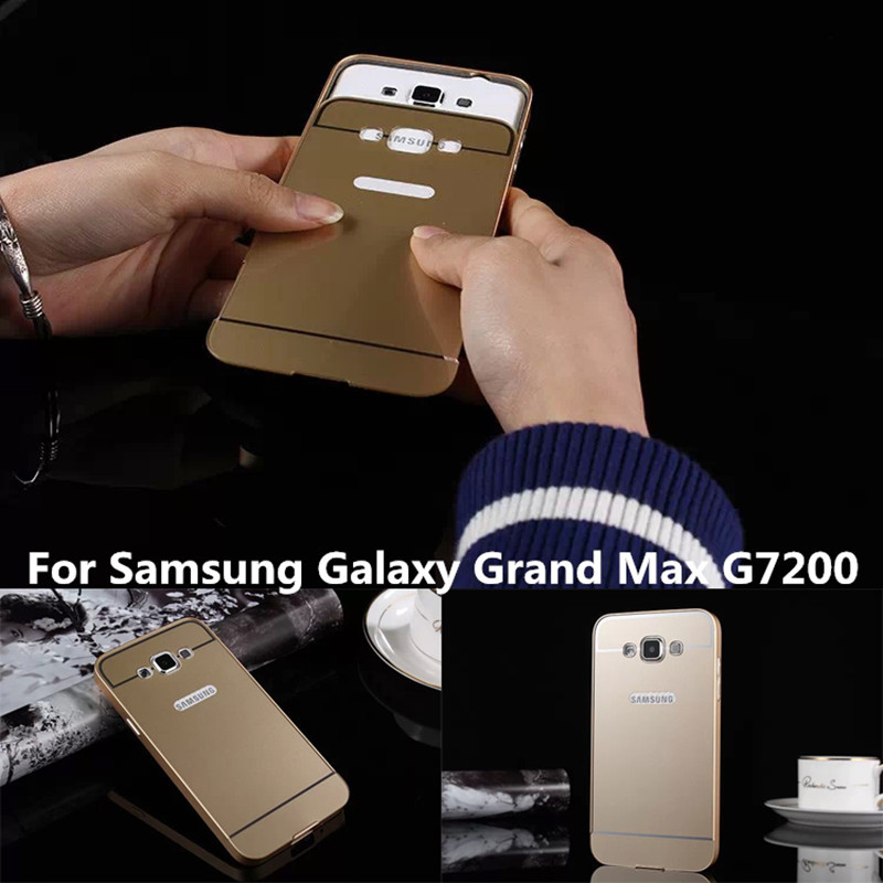 timeless design ef6cf c7b22 US $6.8 |New Luxury Aluminum Frame + Acrylic Back Cover for Samsung Galaxy  Grand Max G7200 4G Mobile Phone cases +gift free shipping on Aliexpress.com  ...