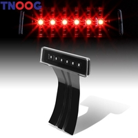 Black LED Brake Light With Smoke Lens For JK Jeep Wrangler Unlimited Rubicon JK Sahara 2007