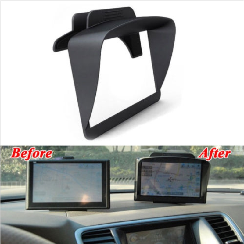Car 6-7'' GPS Navigator Anti G-lare Reflection Sun Shade Visor Screen Clip Windshield Fit for Universal Car Styling Accessories