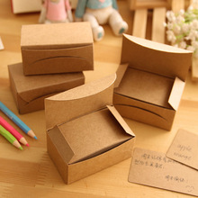 100pcs/box Vintage Empty Kraft Message Business Card Stationery Sketchbook Note Pad Office School Supplies Papelaria