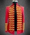 Roupas traje dos homens plus size jaqueta espetáculo fino mostram quadrados moda jaquetas homens bodysuit casaco blazer ouro stage show terno