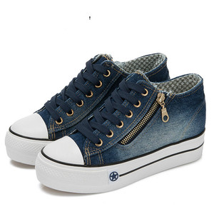 Image 5 - SWYIVY Denim kanvas ayakkabılar spor ayakkabı kadın 2019 sonbahar mavi Platform Sneakers kadınlar vulkanize kadın ayakkabısı rahat kadın spor ayakkabı
