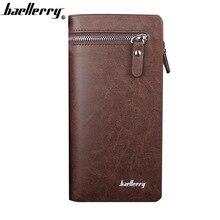 Baellerry Men Wallets PU Leather Zipper Wallet Phone Pocket Card Holder England Style Male Wallet Black Top Quality Men Wallet цена в Москве и Питере