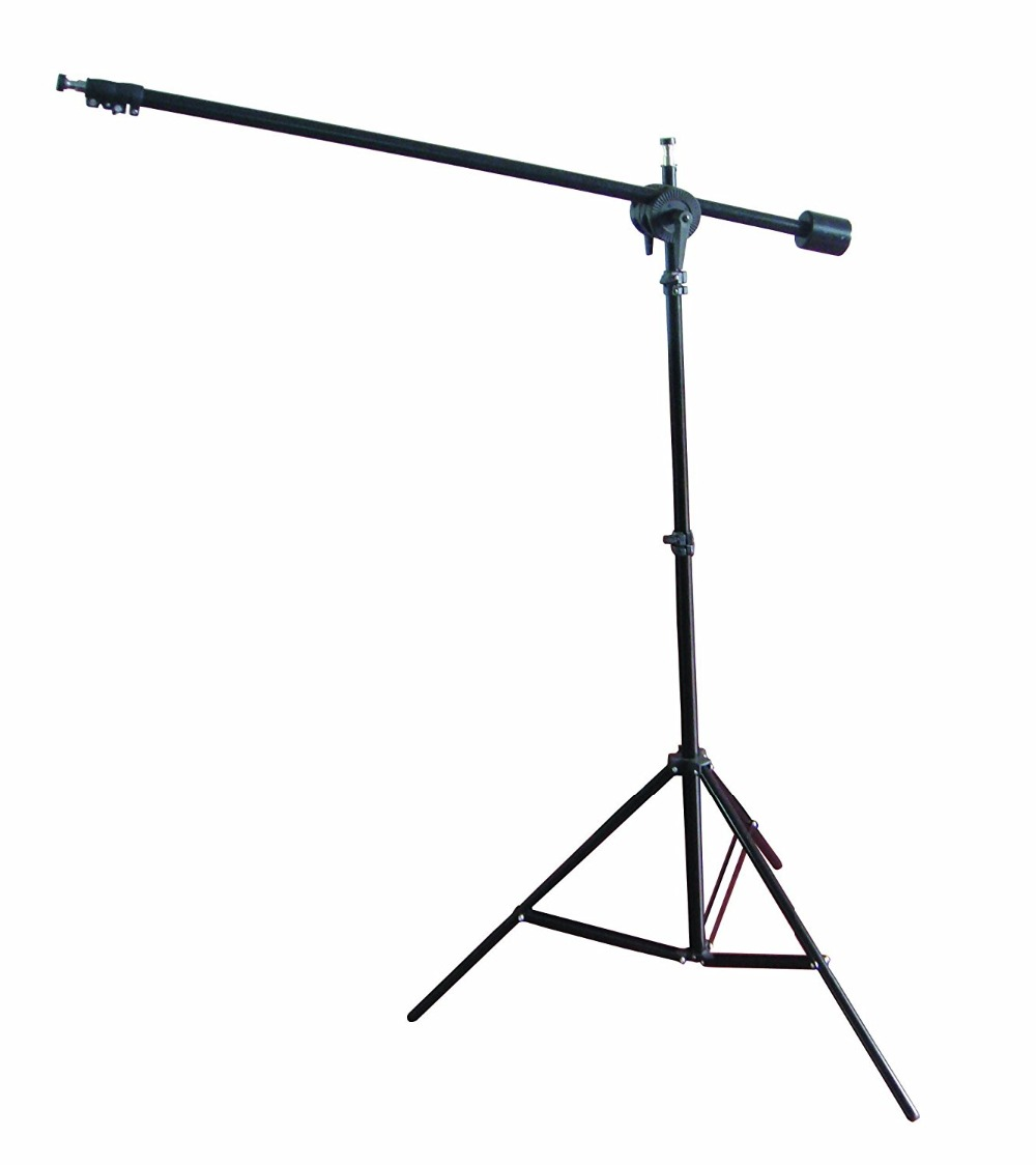 Telescopic Boom Stand Support Kit Reflector Arm Holder+Grip Head kit+2m Light Stand