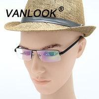 Men Reading Glasses For Sight Computer Spectacles Gafas Lectura Retro Optical Metal Eyeglass Frame 1 0