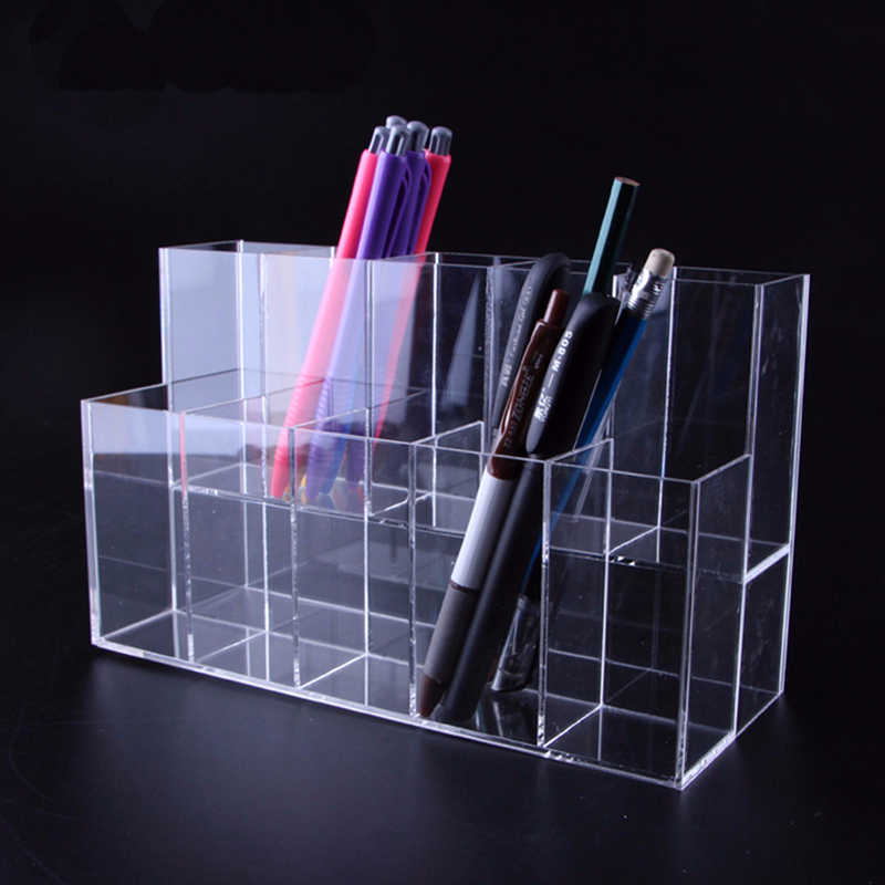 Clear Acrylic Lipstick Storage Makeup Case Holder For Desktop Organizer Box For Pencil Pen Cosmetic Brush Jewelry Display Rack