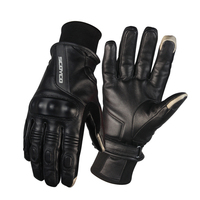 Scoyco MC31 Genuine Leather Motorcycle Gloves Men Women Classic Racing Gloves Goat Skin Winter Autumn Warm