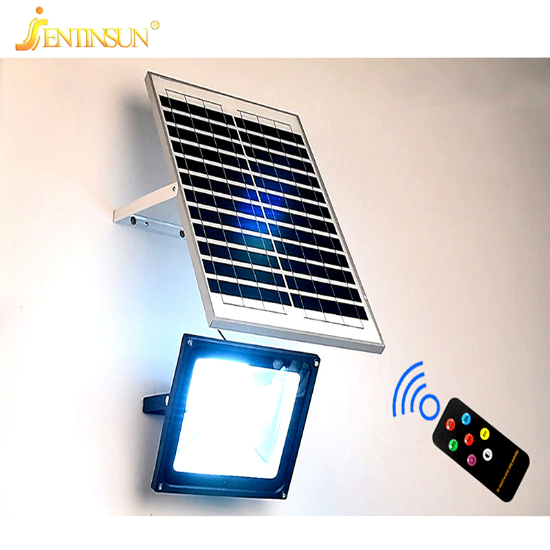 New Solar Panel Light 50w 30w 20w Remote Control Sensor Led