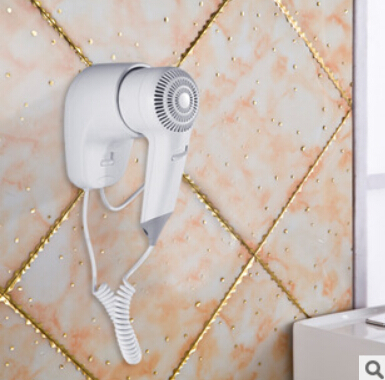 New Hot selling 1200W Security Wall Mounted Hair Dryer with EU plug Electric Blower for hotel or household with EU plug modun m 1288a 1200w wall mounted electric hair dryer white 2 flat pin plug