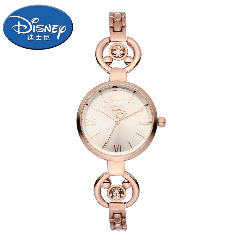 Véritable Disney montres femmes montres de luxe Quartz montres enfants montres fille Bracelet montre cadeau horloge-in Bracelets de montres femme from Montres    1