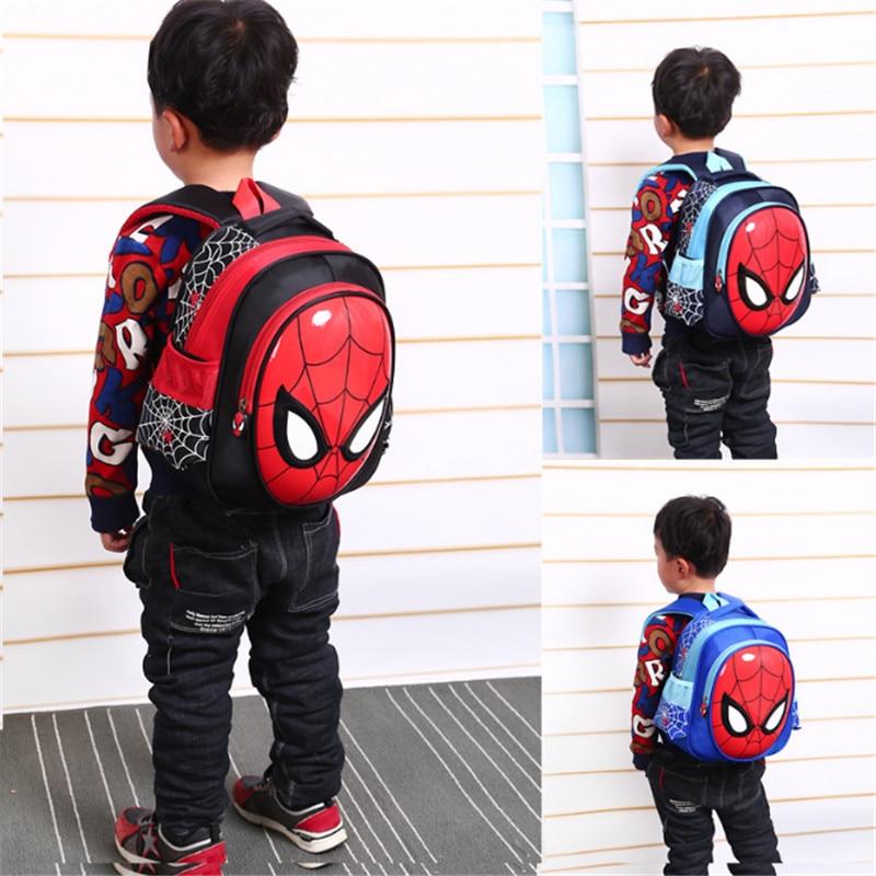 Christmas Gift 3D Spiderman School Bags For Boy Girls First Grade School Backpacks For Children Kids Schoolbag Mochila Escolar