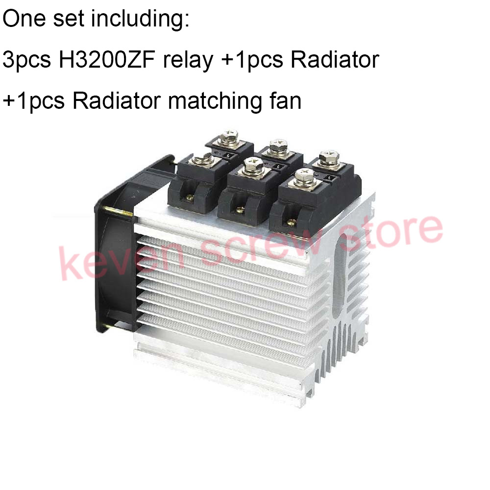 H3200ZF-3 three phase DC to AC 200A 4-32VDC industrial grade solid state relay set/SSR set Not incluidng tax ac 440v 60a three 3 phase four 4 wire 3p 4w ceramic industrial socket plug set