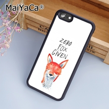 MaiYaCa Zero Fox Given Funny Joke Print Soft TPU Mobile Phone Case Funda For iPhone 7 Back Cover Skin Shell(China)