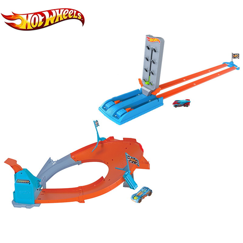 Hotwheels 2019 Newest Track Toy Metal Cars Easy Building Kid Toys Connectable Hot Wheels Other Track