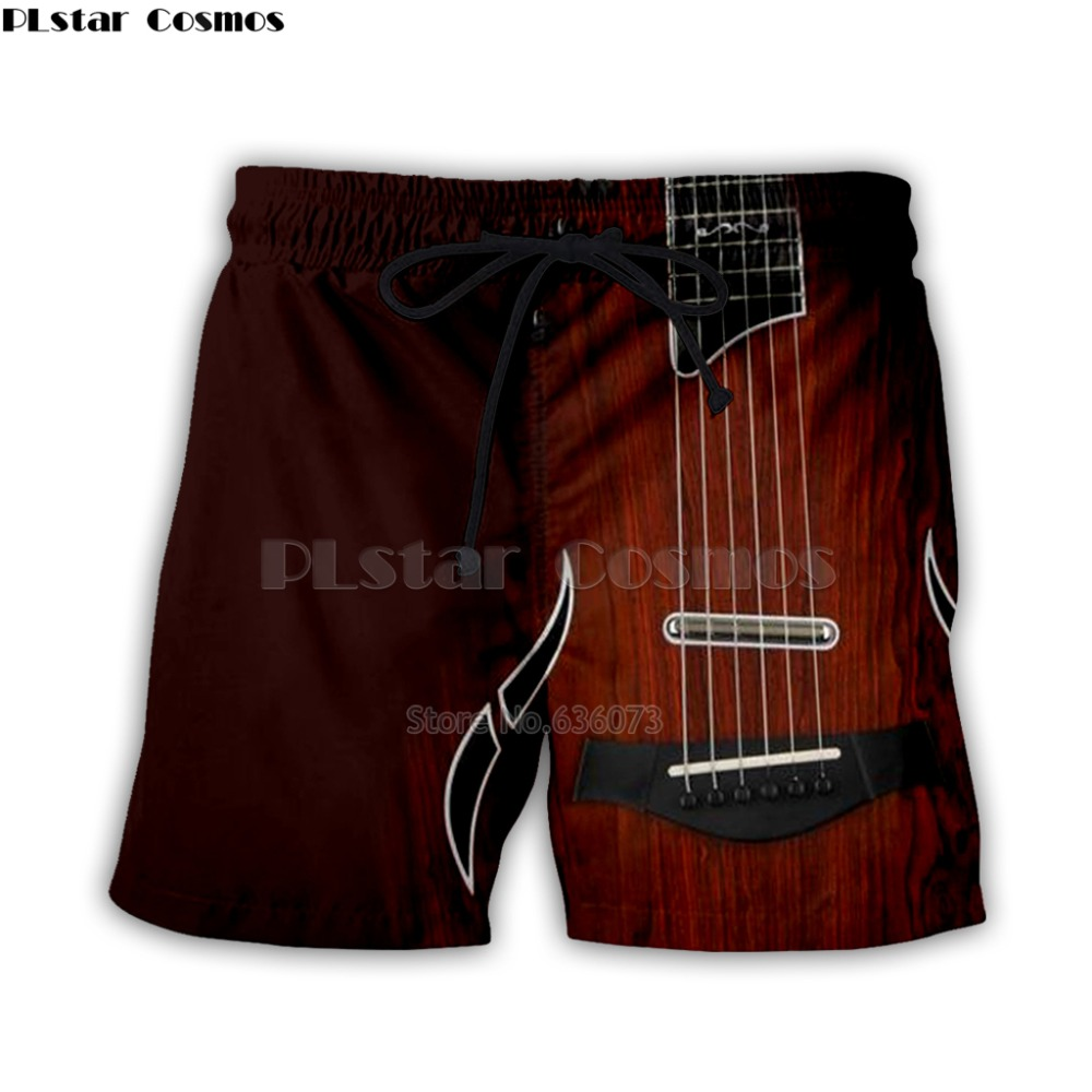 Guitar Art Musical Instrument 3d Full Printing Fashion Short Pant 3d Print Hip Hop Style Shorts Streetwear Casual Summer Style-5