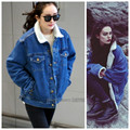 2016 Autumn winter women denim coat jeans ladies jacket lamb cotton outwear thicken warm plus size women jeans coats