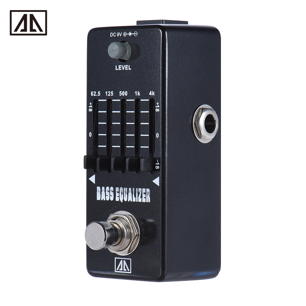 buy aroma aeb 5 5 band graphic eq bass guitar equalizer effect pedal aluminum. Black Bedroom Furniture Sets. Home Design Ideas