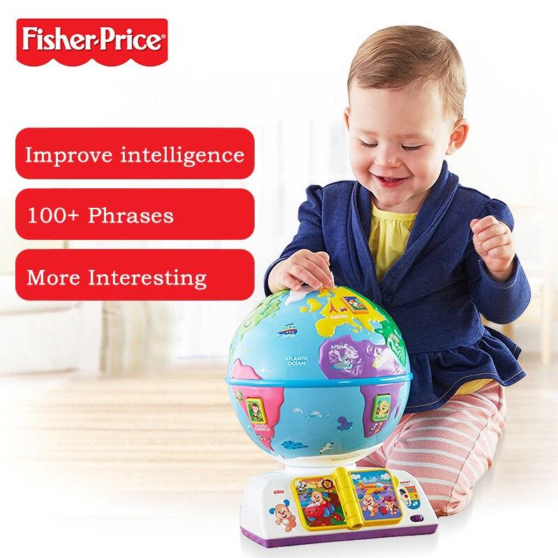 Fisher-price nouveau jouet d'apprentissage pour bébé joué un Globe bilingue DWN38 jouets éducatifs pour la petite enfance pour enfant cadeau de noël