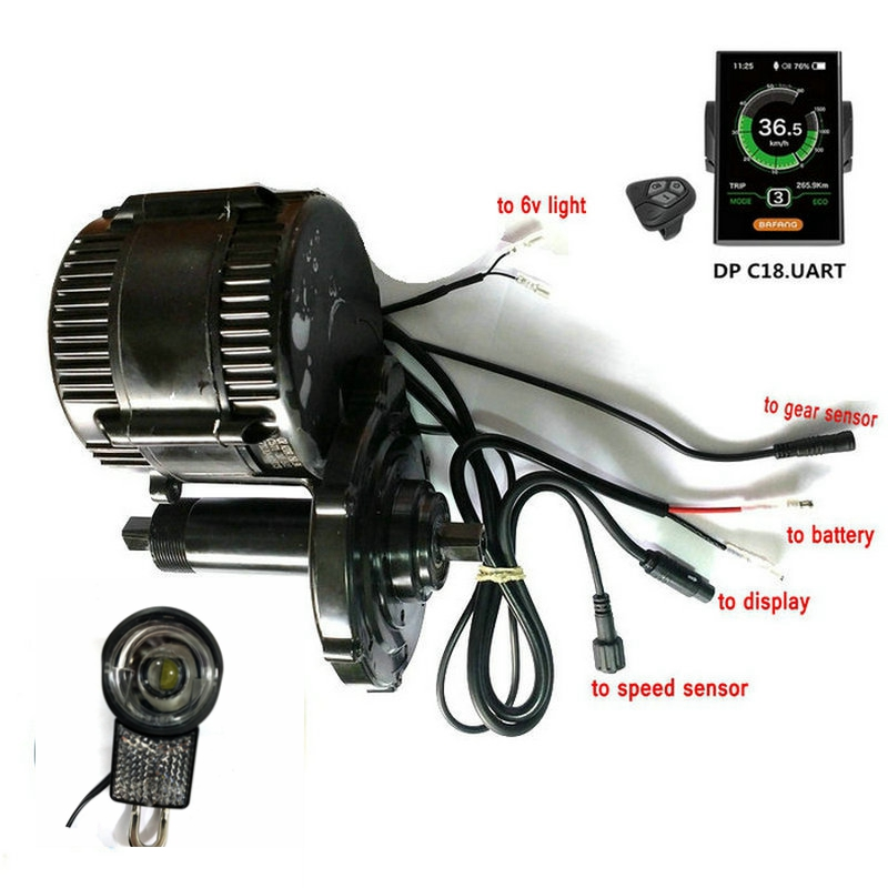 48V750W New version Bafang8fun BBS02B mid kit motor color display geared Motor ebike kits with