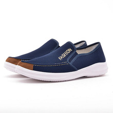 Denim Men Casual Canvas Shoes Mens Loafers 2019 New Anti-Slip Vulcanized Man Flats Boat Chaussure Homme