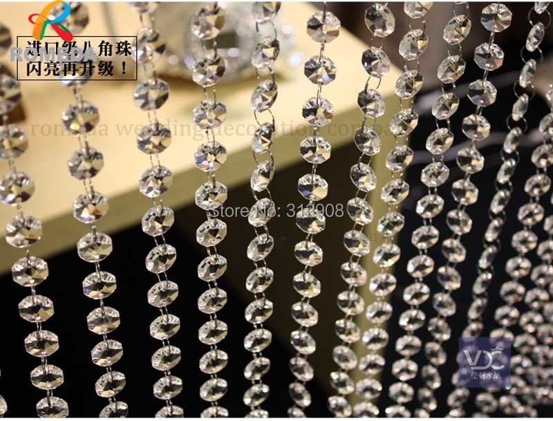 Buy 10m crystal clear acrylic bead for Decoration company