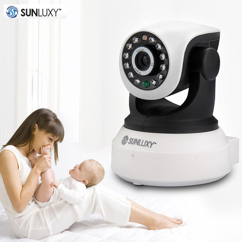 SUNLUXY T8809 Wireless IP Camera 720P IR-cut Night Vision Wifi Security Camera P2P Onvif Pan/Tilt Surveillance Cam Baby Monitor wireless wifi ip surveillance camera pan tilt 720p hd 6 ir leds nightvision baby video monitor cam two way audio security system