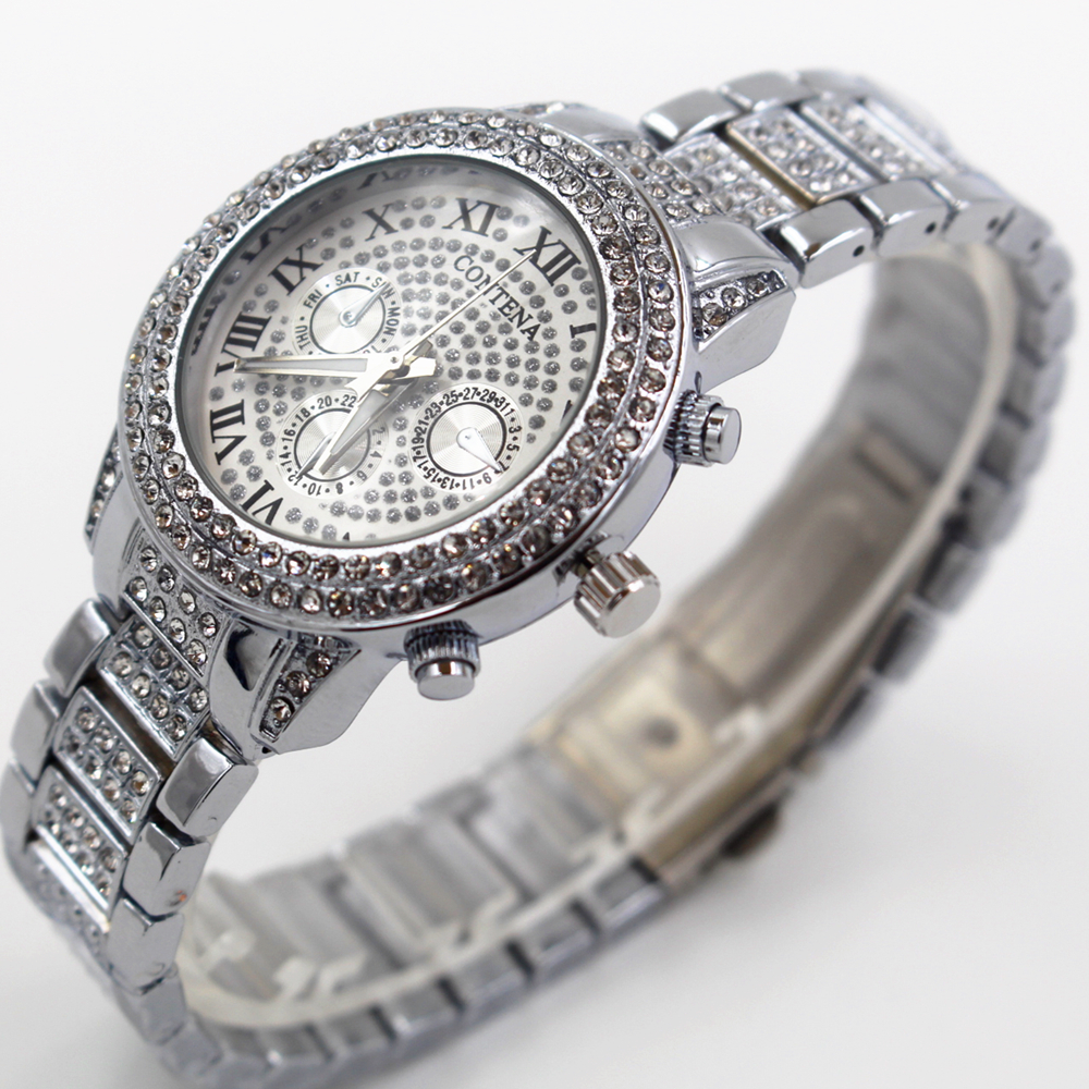 fc129f771 Luxury Watch Women Famous Brand Women's Crystal Diamond Watches Ladies  Girls Female Clock Montre Femme Relogio Feminino Silver-in Women's Watches  from ...