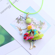 Girls' Doll Pendant Long Necklace