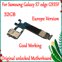 100% Original Unlocked For Samsung Galaxy S7 Edge G935F Main Motherboard 32GB Europe Version With Full Chips Logic board
