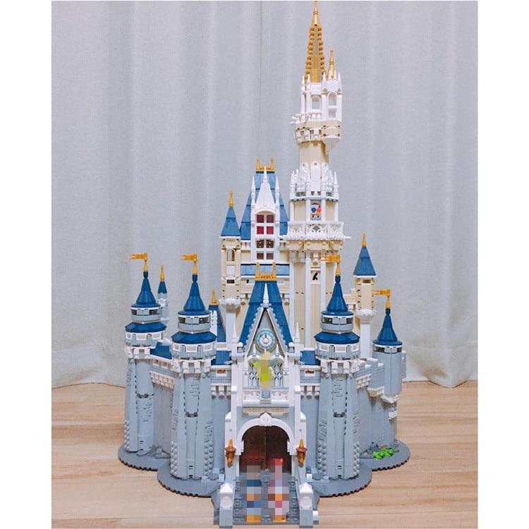 16008 Cinderela Princesa Castelo Cidade conjunto Modelo de Brinquedo De Aniversário Engraçado do Miúdo Bloco de Construção DIY Compatível 71040