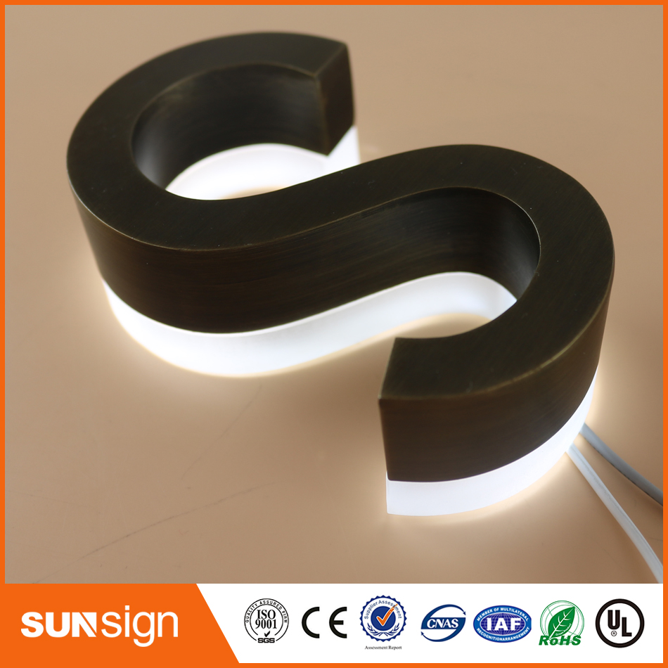 Factory Outlet Stainless Steel Led Backlit Channel Letter Sign