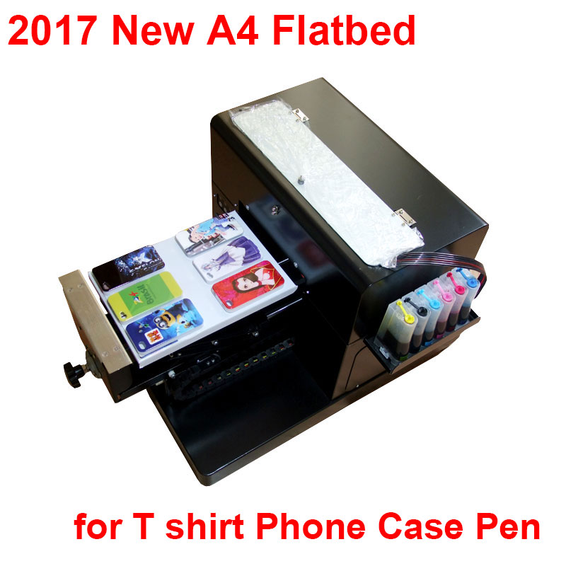 A4 Flatbed Printer T shirt Printer inkjet Flatbed Printer for CD /DVD Cards Phone case/T-shirt/Pen/Plastic on hot sales inkjet id card printting machine automatic inkjet cd printer with 52 trays for id cards and cd