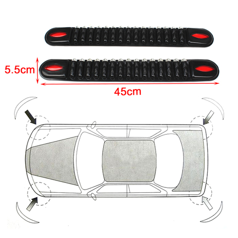 Car-styling Rubber Automobiles Accessories Car Crash Bar Trim Protection Strips Sticker Car Bumper Protector Guard Corner Strip Lahore