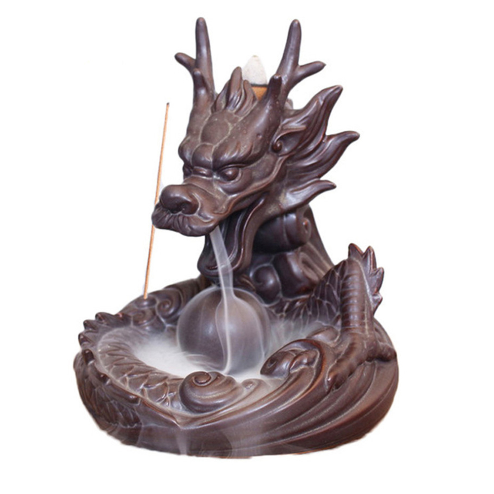 US $10 29 25% OFF|Traditional Chinese Dragon Shaped Backflow Incense Burner  Ceramic Smoke View Cool Incense Burners 3 Types-in Incense & Incense