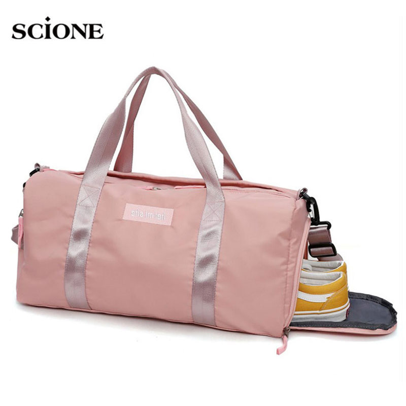 Swimming Yoga Fitness Gym Bags Dry Wet Bag Handbags For Women Shoes Travel Training Waterproof Pink Pool Beach Duffel XA545WA yoga fitness bag waterproof nylon training shoulder crossbody sport bag for women fitness travel duffel clothes gym bags xa55wa