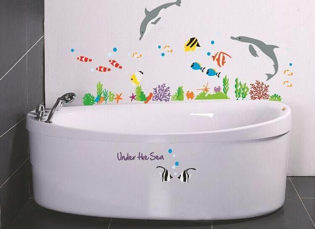 Pod Morze ściany Płytki Naklejki Naklejka Na Prysznic W łazience Dla