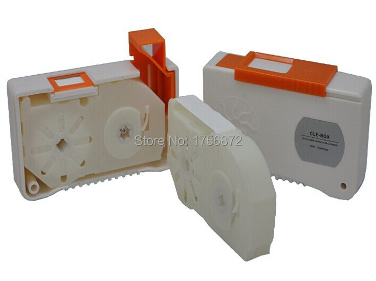 Free Shipping Optical Fiber Clean Cassettes CLE-BOX with replacable tape Optical Fiber Clean Box