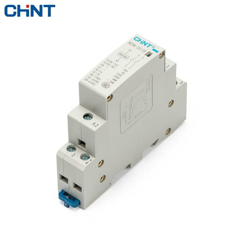 CHINT Ménage Petit-taille monophasé Communication Contacteur 220 V Guide Type NCH8-20/20 Deux Normalement Ouvert 2 P 20A