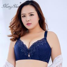 3/4 cup Plus size wireless lace bra thin underwear small adjustable Womens breast cover D E Large Big Siz