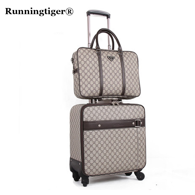 цена на Classic Travel Suitcase set ,Brand Rolling Luggage Bag,Waterproof PVC business Trolley case,1618 20 Spinner wheel Carry on