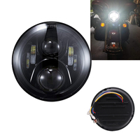Harley Motorcycle Accessories 7 7 Inch Motorcycle Black Projector Daymaker Headlight H4 Hi/Lo Beam LED Light Bulb For Harley