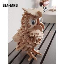 A Toys For Children 3d Puzzle Diy Wooden Puzzle Owl A Kids Toys Also Suitable Adult Game A Best Gift Of High Quality Wood children s game desk puzzle solid wood toys to play the game table