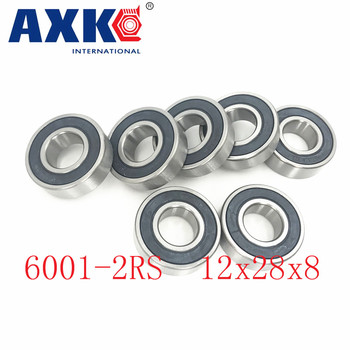 Axk 6001-2rs Bearing Abec-5 (10pcs) 12x28x8 Mm Sealed Deep Groove 6001 2rs Ball Bearings 6001rs 180101 Rs image