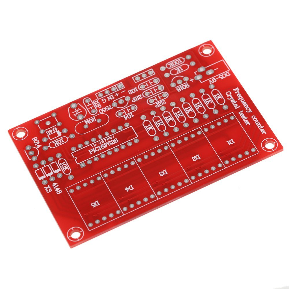 50 MHz Crystal Oscillator Frequency counter Testers DIY Kit 5 Resolution Digital Red 4