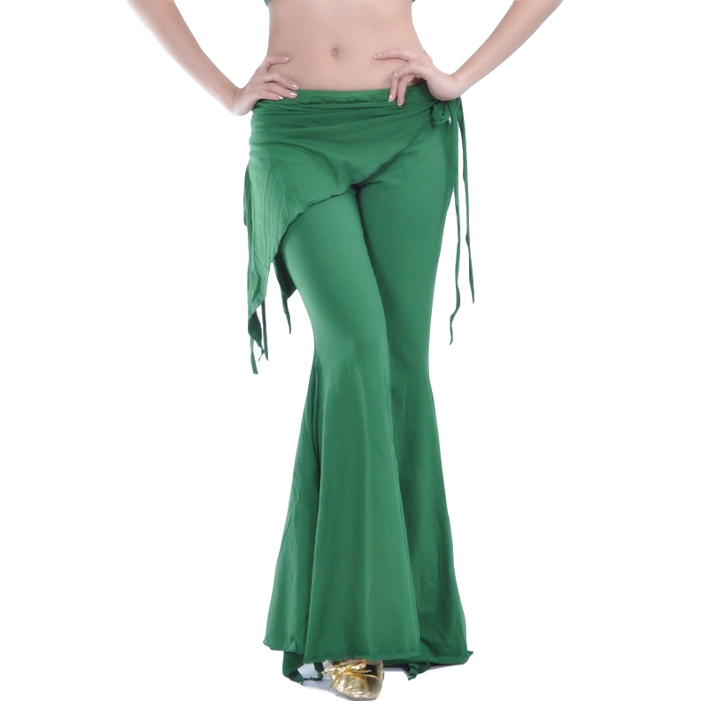 2018 Tribal Fusion Belly Dancewear Clothes Ladies High Waist Flare Trousers Practice Pants Plus Size Womens Belly Dance Pants