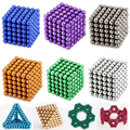 216PCS 3MM Neodymium Magnetic Buck Balls Neo Nickel Magic Cube Spheres Beads Puzzle Neo Cube Magic DIY Kids Educational Toys