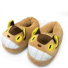 Kawaii Totoro Buss Cartoon Plush Toys Dolls Anime My Neighbor Non-slip Home Indoor House Winter Soft Shoes