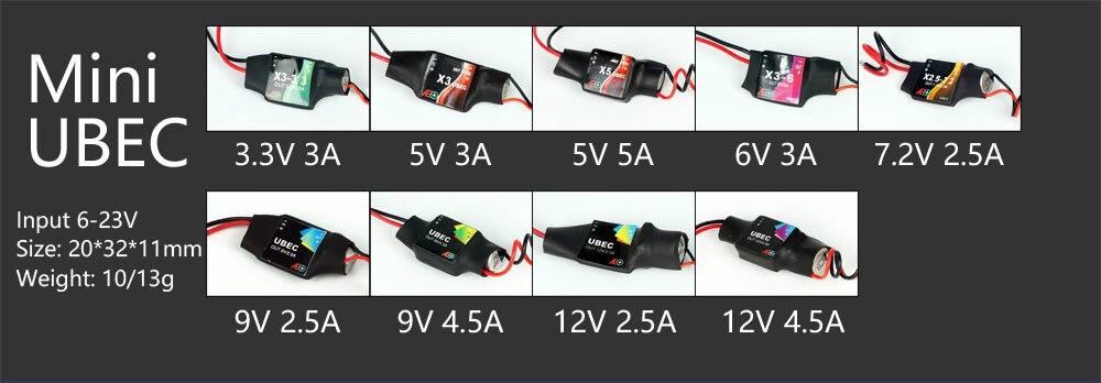 AEORC Mini UBEC BEC (3.3V 3A/5V 3A/5V 5A/6V 3A/7.2V 2.5A/9V 2.5A/9V 4.5A/12V 2.5A/12V 4.5A) for RC Plane aeorc bec ubec pro 3 3v 3 5a 5v 3 5a 5v 5a 6v 3 5a 7 2v 3a 7 2v 4 5a 9v 3a 9v 4 5a 12v 3a 12v 4 5a for rc